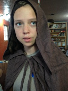 Katheryne found my Gandalf cloak, she loves it!