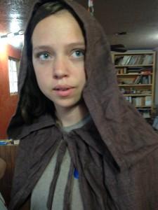 Katheryne found my Gandalf cloak, she loves it!