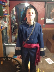 James was a Calvary officer to go with his sword