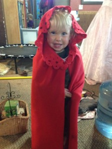 Look, little red ridding hood