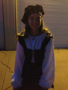 Katheryne made her own Scottish princess dress